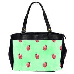 Pretty Background With A Ladybird Image Office Handbags (2 Sides)  by Nexatart