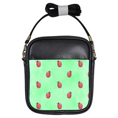 Pretty Background With A Ladybird Image Girls Sling Bags by Nexatart