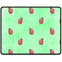 Pretty Background With A Ladybird Image Fleece Blanket (medium)  by Nexatart