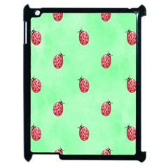 Pretty Background With A Ladybird Image Apple Ipad 2 Case (black) by Nexatart