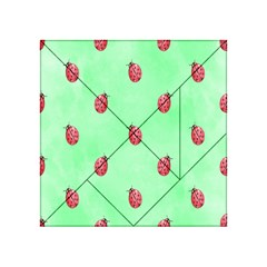 Pretty Background With A Ladybird Image Acrylic Tangram Puzzle (4  X 4 ) by Nexatart