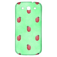 Pretty Background With A Ladybird Image Samsung Galaxy S3 S Iii Classic Hardshell Back Case