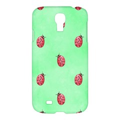 Pretty Background With A Ladybird Image Samsung Galaxy S4 I9500/i9505 Hardshell Case