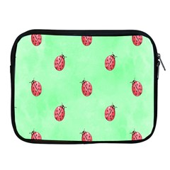 Pretty Background With A Ladybird Image Apple Ipad 2/3/4 Zipper Cases