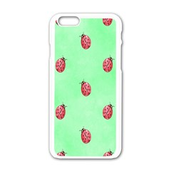 Pretty Background With A Ladybird Image Apple Iphone 6/6s White Enamel Case by Nexatart
