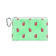 Pretty Background With A Ladybird Image Canvas Cosmetic Bag (s) by Nexatart