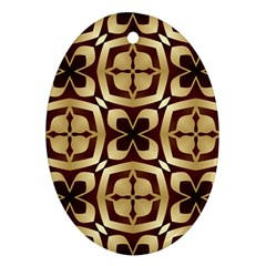 Abstract Seamless Background Pattern Oval Ornament (two Sides)