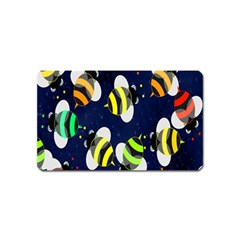 Bees Cartoon Bee Pattern Magnet (name Card) by Nexatart