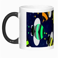 Bees Cartoon Bee Pattern Morph Mugs by Nexatart
