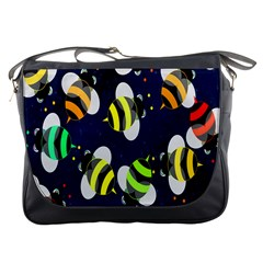 Bees Cartoon Bee Pattern Messenger Bags
