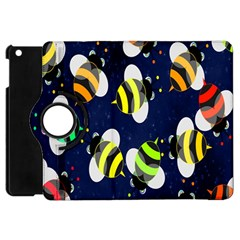 Bees Cartoon Bee Pattern Apple Ipad Mini Flip 360 Case