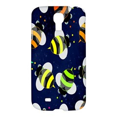 Bees Cartoon Bee Pattern Samsung Galaxy S4 I9500/i9505 Hardshell Case by Nexatart