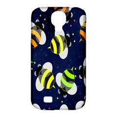 Bees Cartoon Bee Pattern Samsung Galaxy S4 Classic Hardshell Case (pc+silicone)