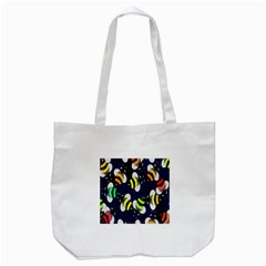Bees Cartoon Bee Pattern Tote Bag (white) by Nexatart