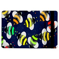 Bees Cartoon Bee Pattern Ipad Air 2 Flip