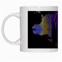 Abstract Surreal Sunset White Mugs by Nexatart