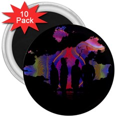 Abstract Surreal Sunset 3  Magnets (10 Pack)