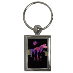 Abstract Surreal Sunset Key Chains (rectangle)  by Nexatart