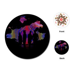 Abstract Surreal Sunset Playing Cards (round)  by Nexatart