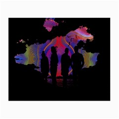 Abstract Surreal Sunset Small Glasses Cloth (2 Side)