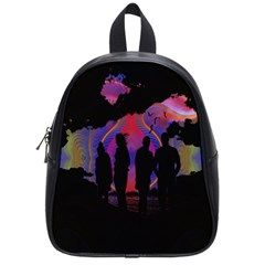 Abstract Surreal Sunset School Bags (small)  by Nexatart