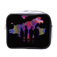 Abstract Surreal Sunset Mini Toiletries Bags by Nexatart
