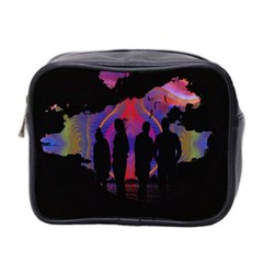 Abstract Surreal Sunset Mini Toiletries Bag 2 Side