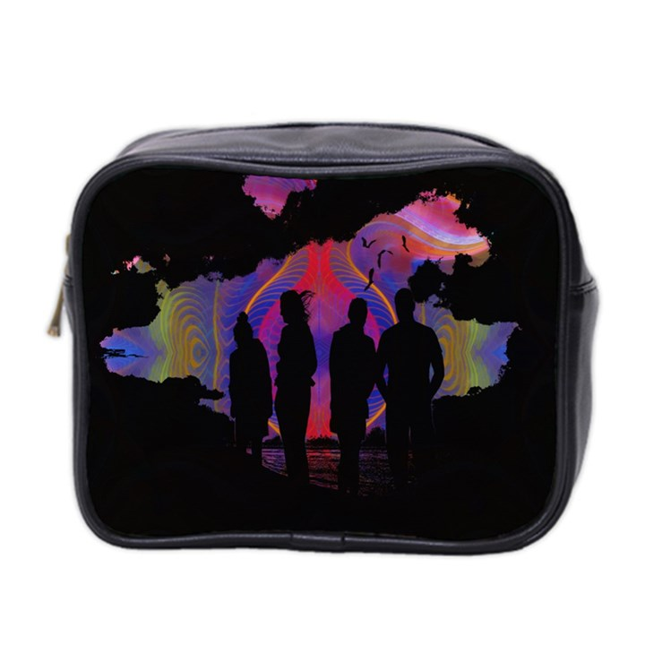 Abstract Surreal Sunset Mini Toiletries Bag 2-Side