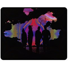 Abstract Surreal Sunset Fleece Blanket (medium)  by Nexatart