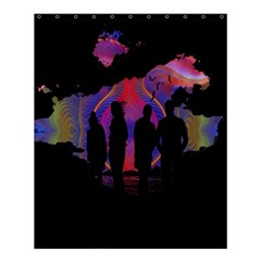 Abstract Surreal Sunset Shower Curtain 60  X 72  (medium)  by Nexatart