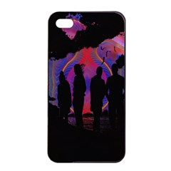 Abstract Surreal Sunset Apple Iphone 4/4s Seamless Case (black) by Nexatart