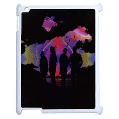 Abstract Surreal Sunset Apple Ipad 2 Case (white) by Nexatart