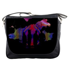 Abstract Surreal Sunset Messenger Bags
