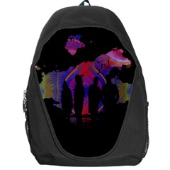 Abstract Surreal Sunset Backpack Bag by Nexatart