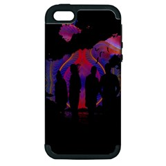 Abstract Surreal Sunset Apple Iphone 5 Hardshell Case (pc+silicone)