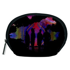 Abstract Surreal Sunset Accessory Pouches (medium)