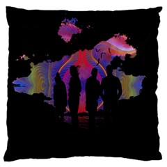 Abstract Surreal Sunset Large Flano Cushion Case (one Side)