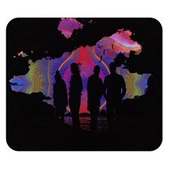 Abstract Surreal Sunset Double Sided Flano Blanket (small)  by Nexatart