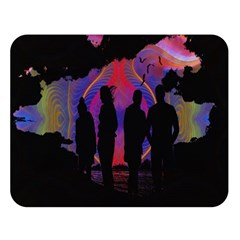 Abstract Surreal Sunset Double Sided Flano Blanket (large)