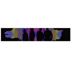 Abstract Surreal Sunset Flano Scarf (large)