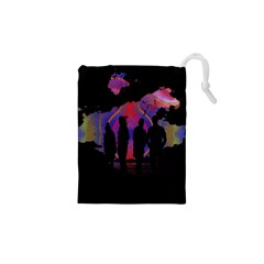 Abstract Surreal Sunset Drawstring Pouches (xs)  by Nexatart