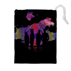 Abstract Surreal Sunset Drawstring Pouches (extra Large) by Nexatart