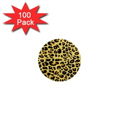 A Jaguar Fur Pattern 1  Mini Magnets (100 Pack)