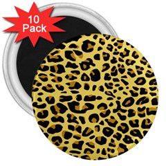 A Jaguar Fur Pattern 3  Magnets (10 Pack)