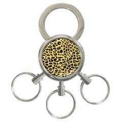A Jaguar Fur Pattern 3 Ring Key Chains