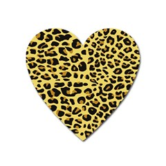 A Jaguar Fur Pattern Heart Magnet by Nexatart