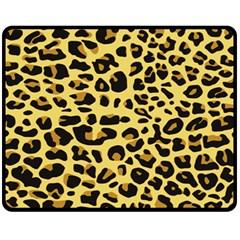 A Jaguar Fur Pattern Fleece Blanket (medium)  by Nexatart