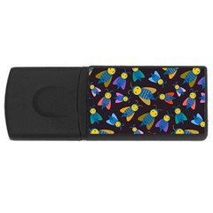 Bees Animal Insect Pattern Usb Flash Drive Rectangular (4 Gb)