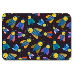Bees Animal Insect Pattern Large Doormat  by Nexatart