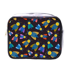 Bees Animal Insect Pattern Mini Toiletries Bags by Nexatart